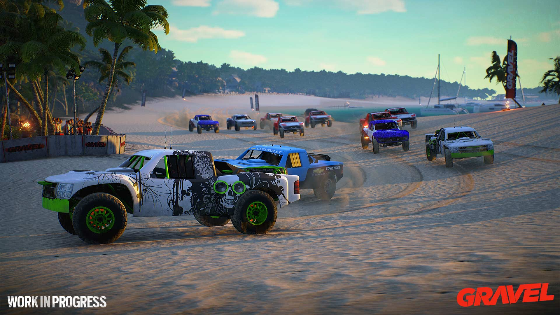Gravel wip trophy trucks beach