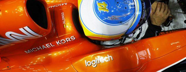 Logitech banner on McLaren-Honda F1 car