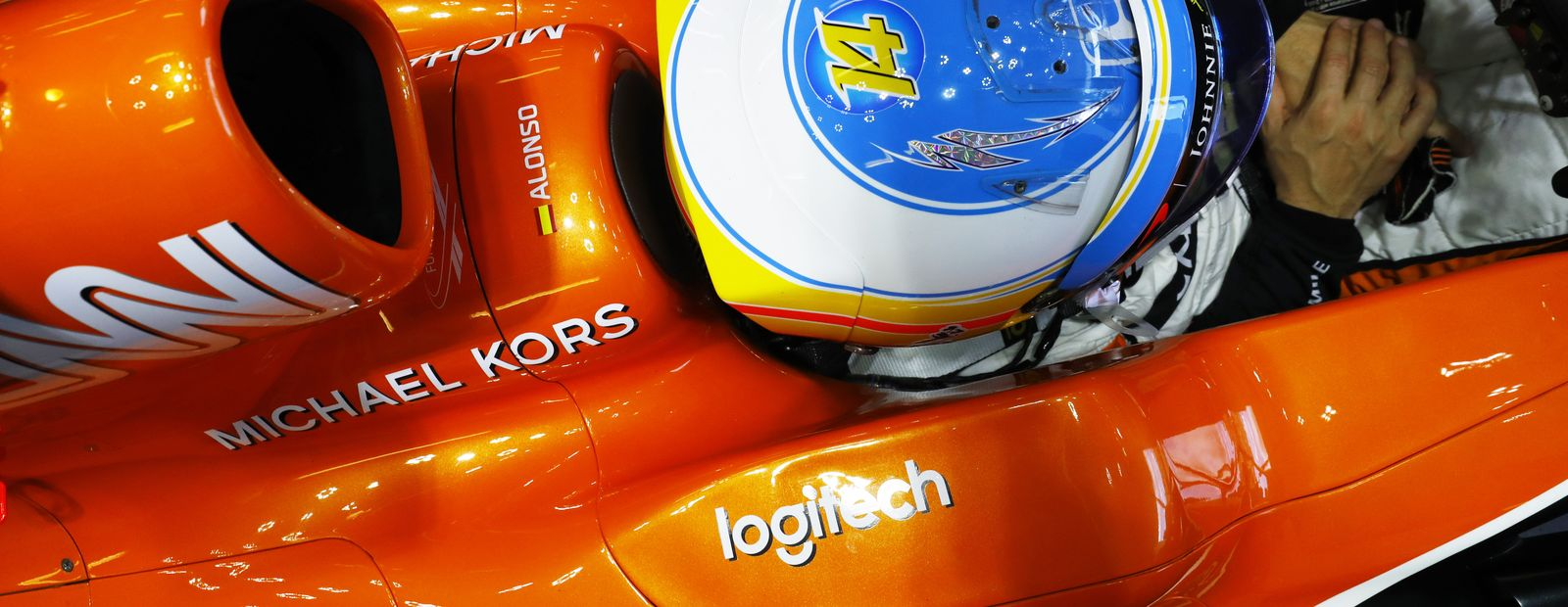 Logitech banner on McLaren-Honda F1 car