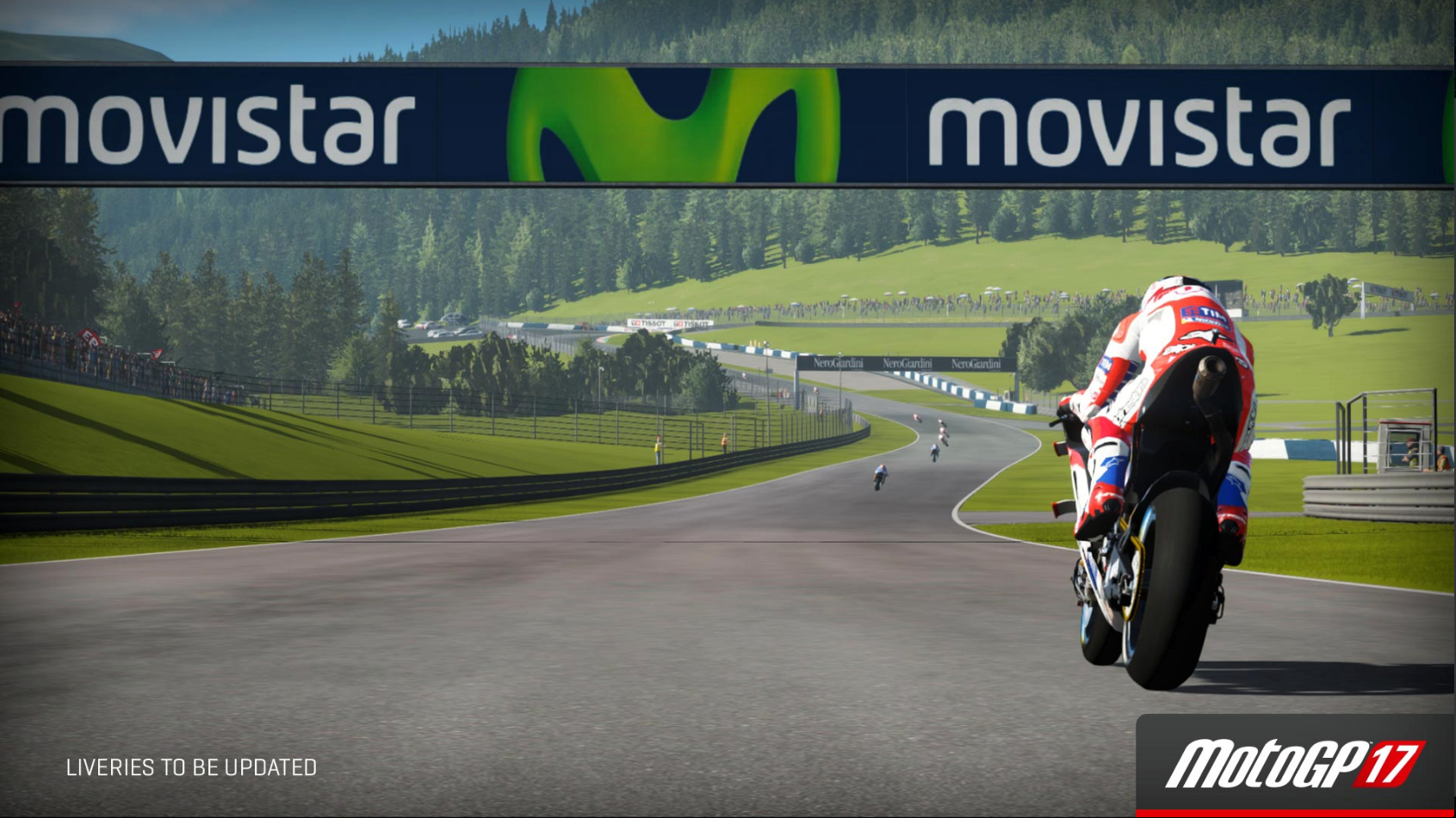 MotoGP 17 Red Bull Ring straight after turn 1