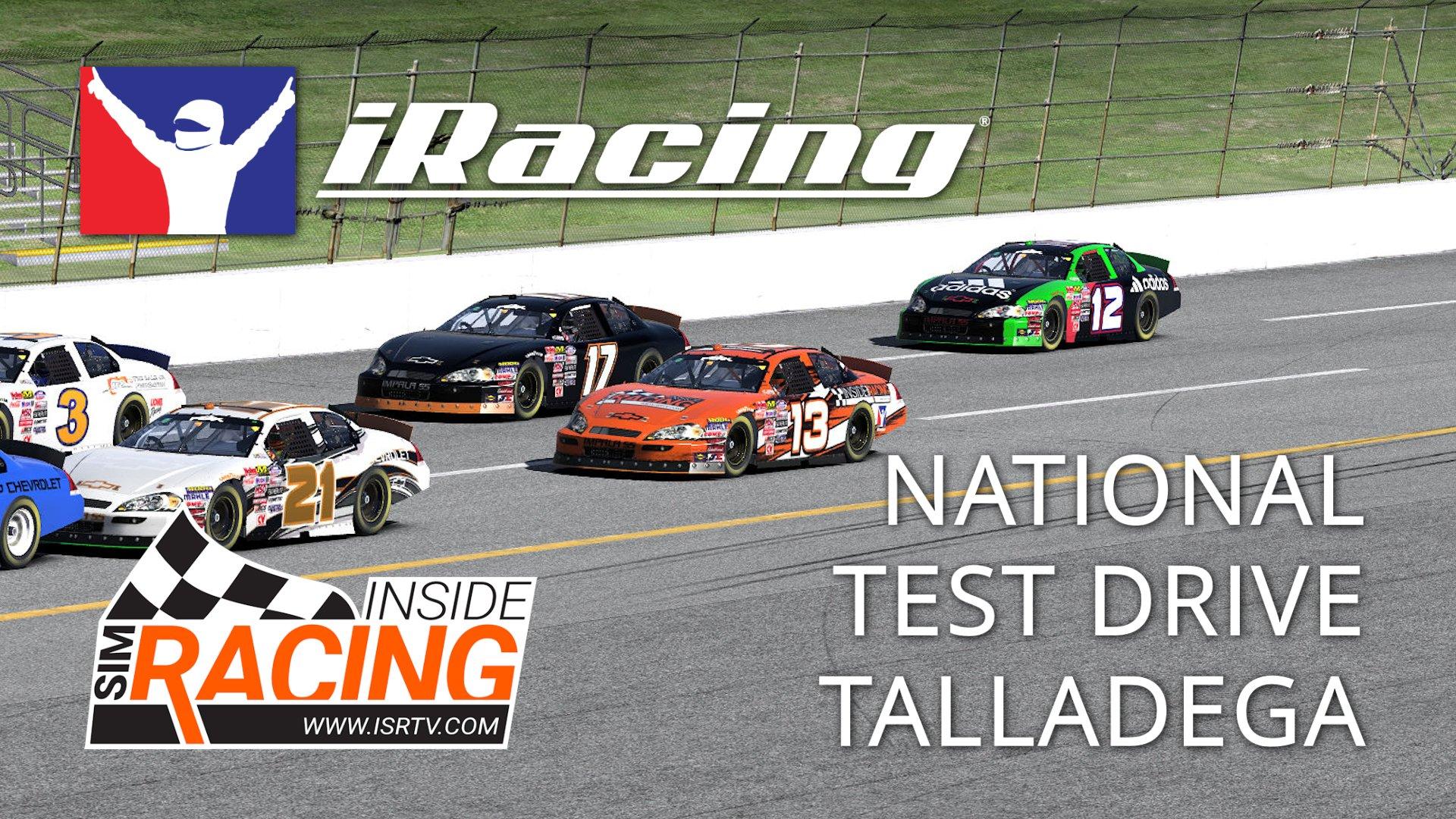 iRacing National Series Test Drive at Talladega - Inside Sim