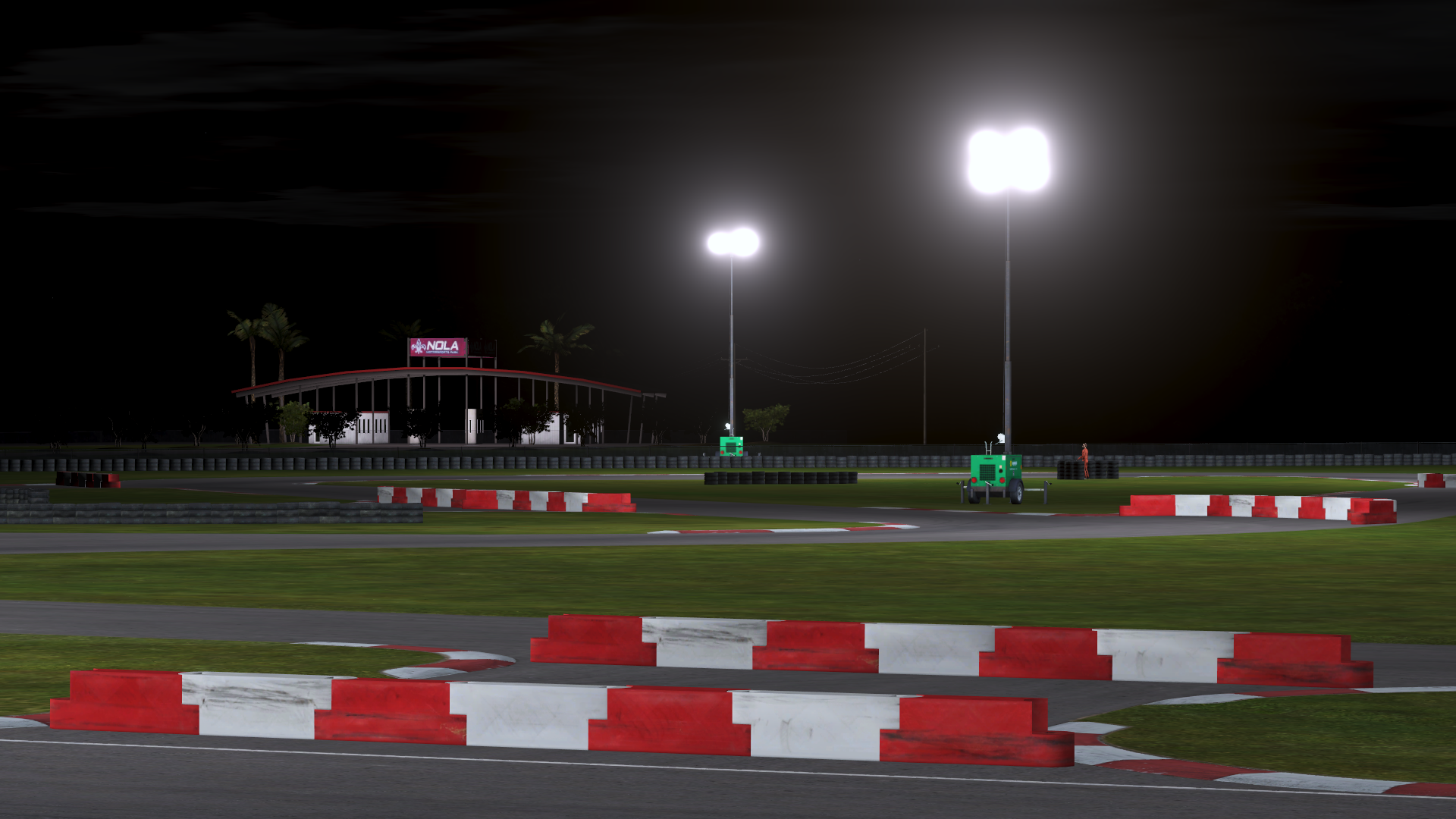 rFactor 2 improved lighting Nola night