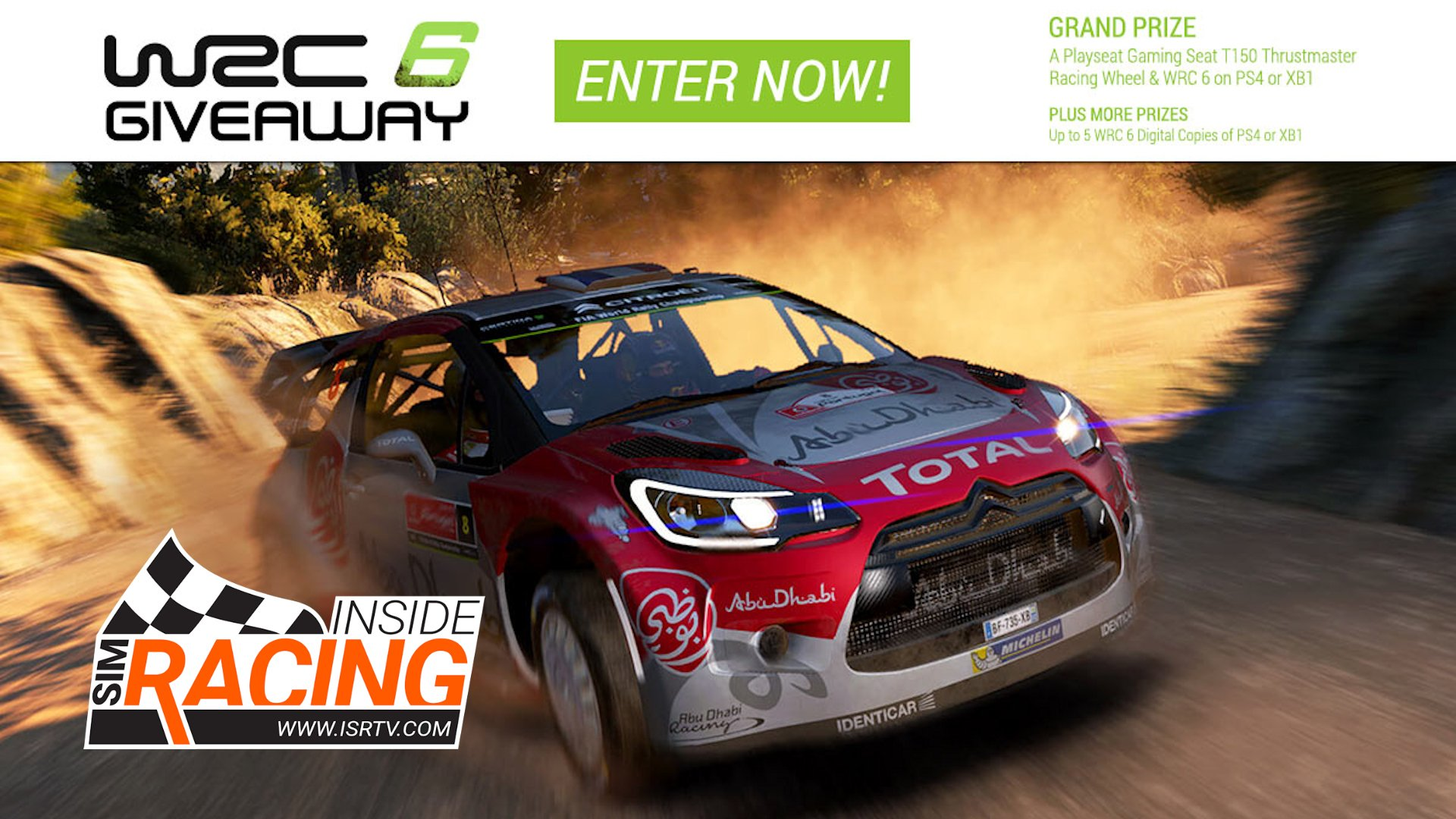 Win A Playseat Thrustmaster Set And Wrc 6 Inside Sim Racing Sony Ps4 Fia World Rally Championship