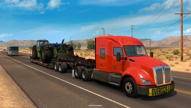 American Truck Simulator heavy cargo preview 1
