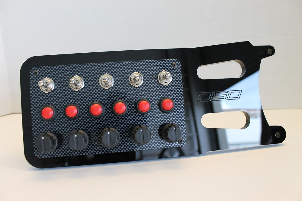 Derek Speare Designs Fanatec CSL Elite button panels prototype left
