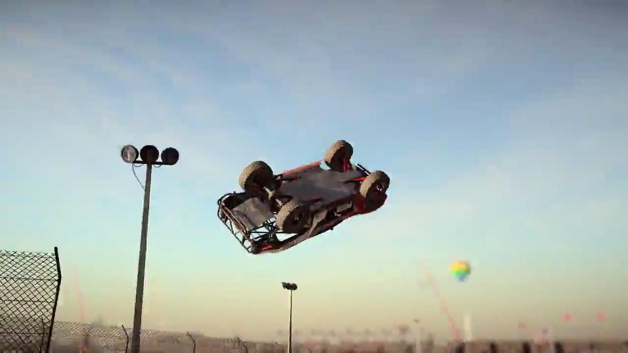 DiRT 4 Trophy Truck massive jump screenshot 1