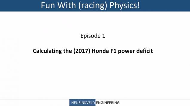 The McLaren-Honda Deficit, Explained by Heusinkveld Engineering