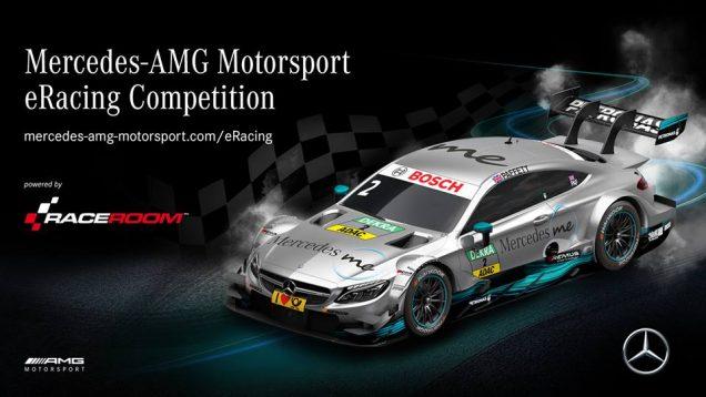 RaceRoom Mercedes-AMG eRacing competition banner