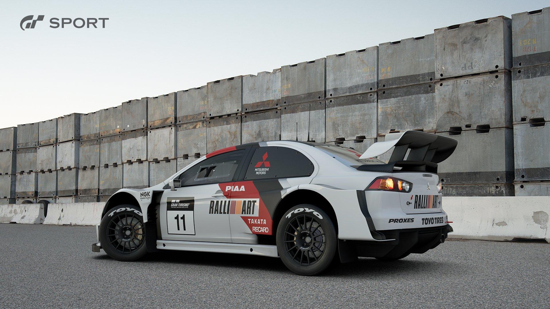 Gran Turismo Sport Mitsubishi Lancer Evolution Final Edition Gr B rally car exterior 2
