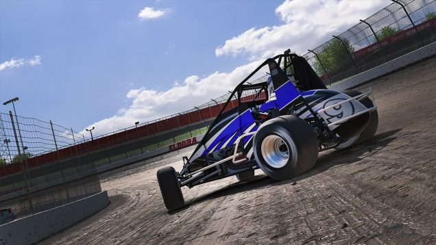 iRacing USAC Sprint Car drift
