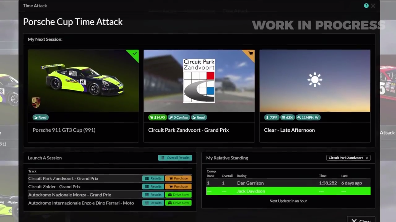 iRacing new UI session overview screenshot