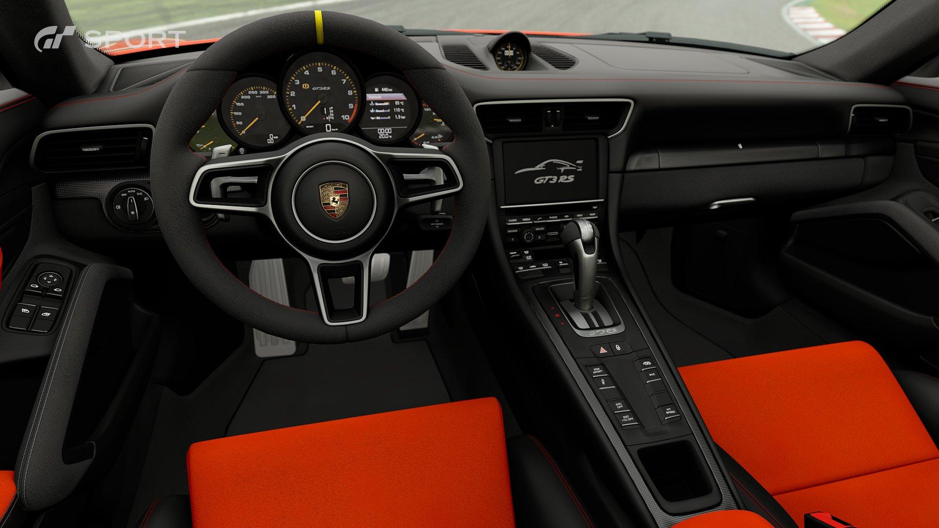 Gran Turismo Sport Porsche 991 911 GT3 RS interior 1