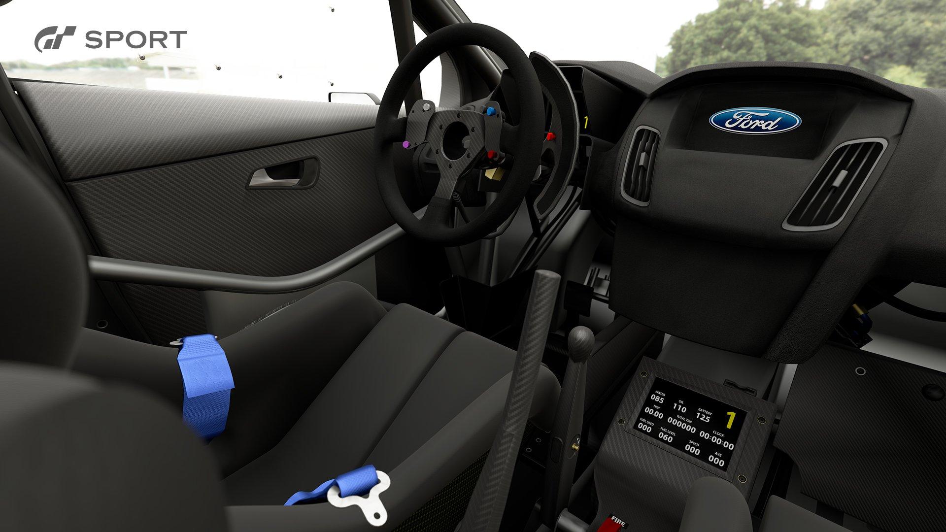 Gran Turismo Sport Ford Focus Gr B rally car interior 1