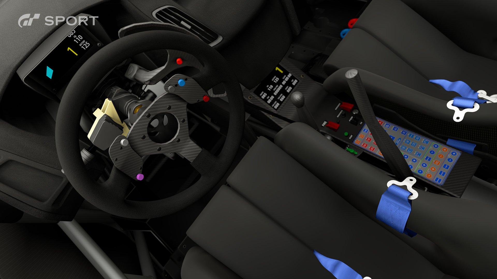 Gran Turismo Sport Ford Focus Gr B rally car interior 2