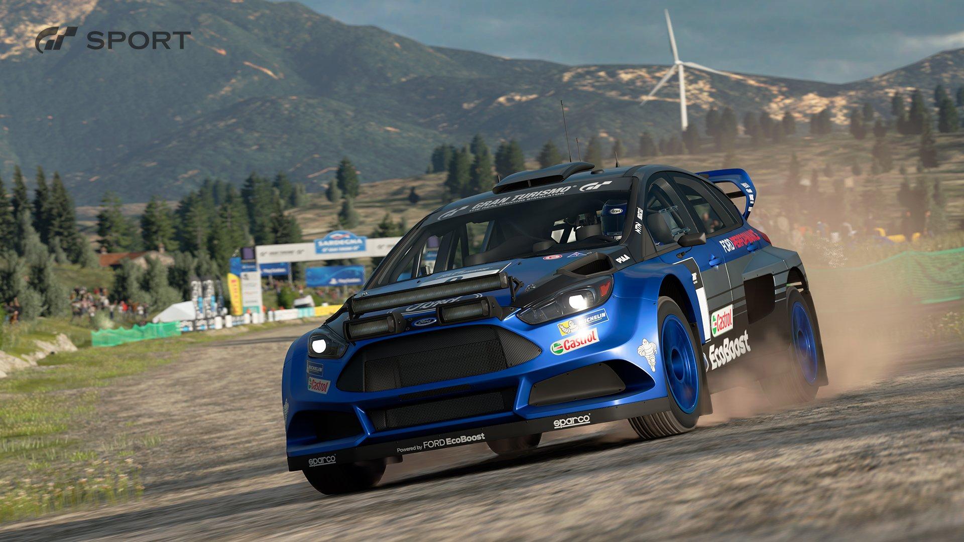 Gran Turismo Sport Ford Focus Gr B rally car race 1