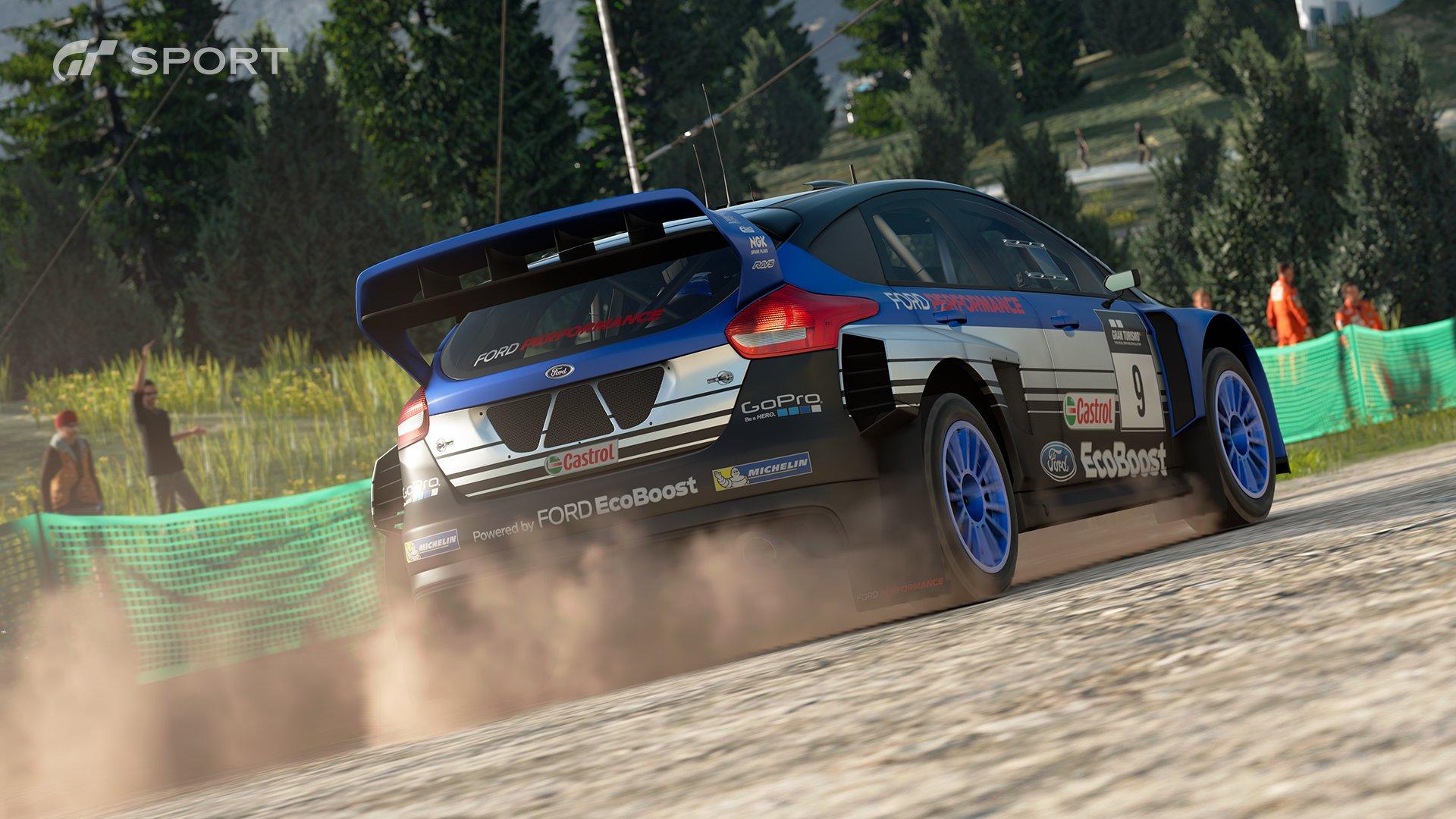 Gran Turismo Sport Ford Focus Gr B rally car race 2