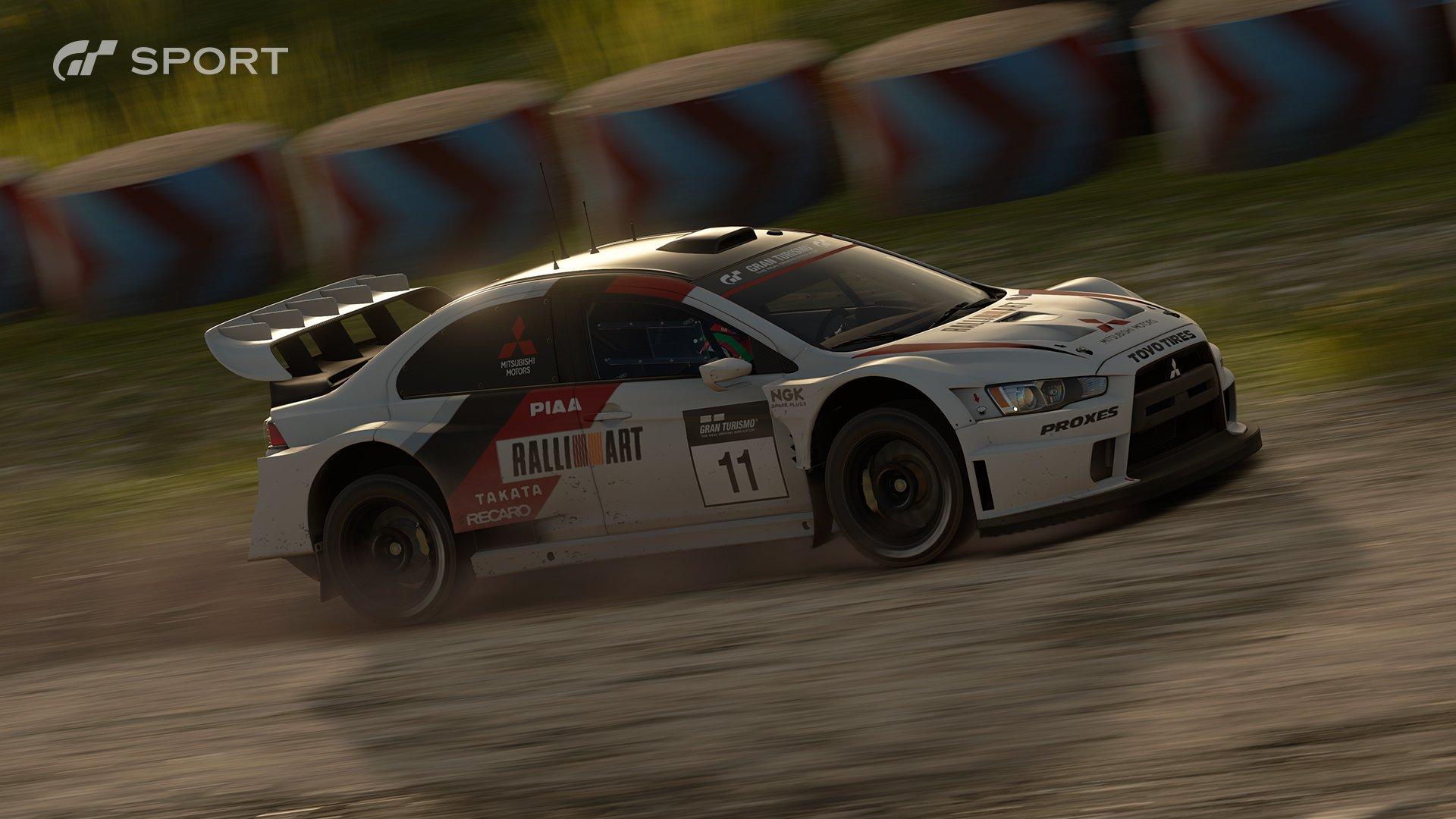 Gran Turismo Sport Mitsubishi Lancer Evolution Final Edition Gr B rally car race 2
