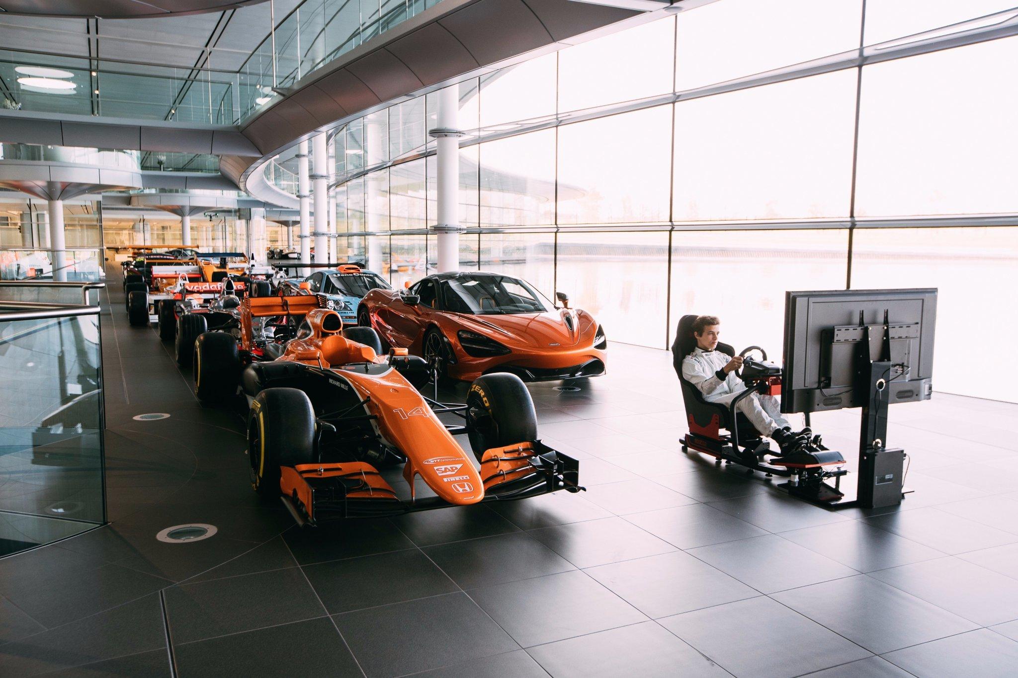 McLaren-Honda Logitech eSports event teaser image Twitter