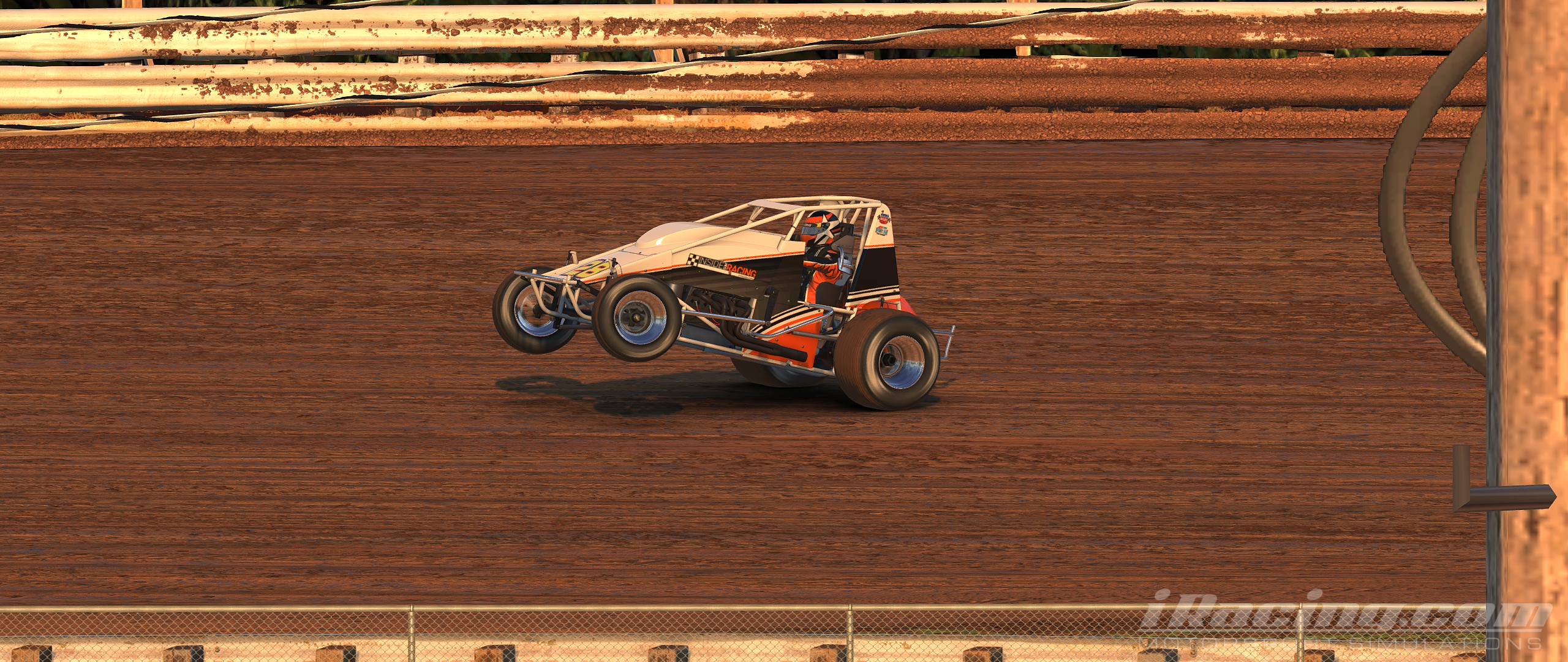 iracing sprint car wheelie