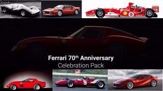 Assetto Corsa Ferrari 70th Anniversary Celebration Pack six cars