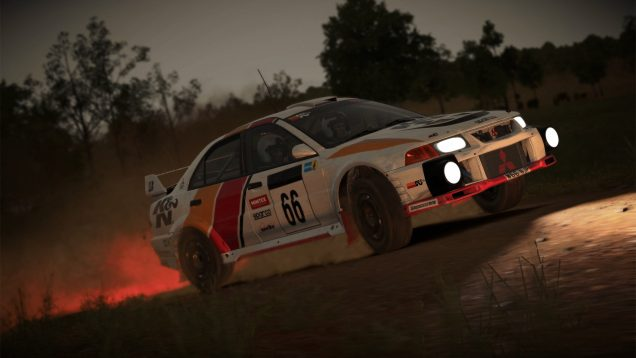 DiRT Mitsubishi Evo night