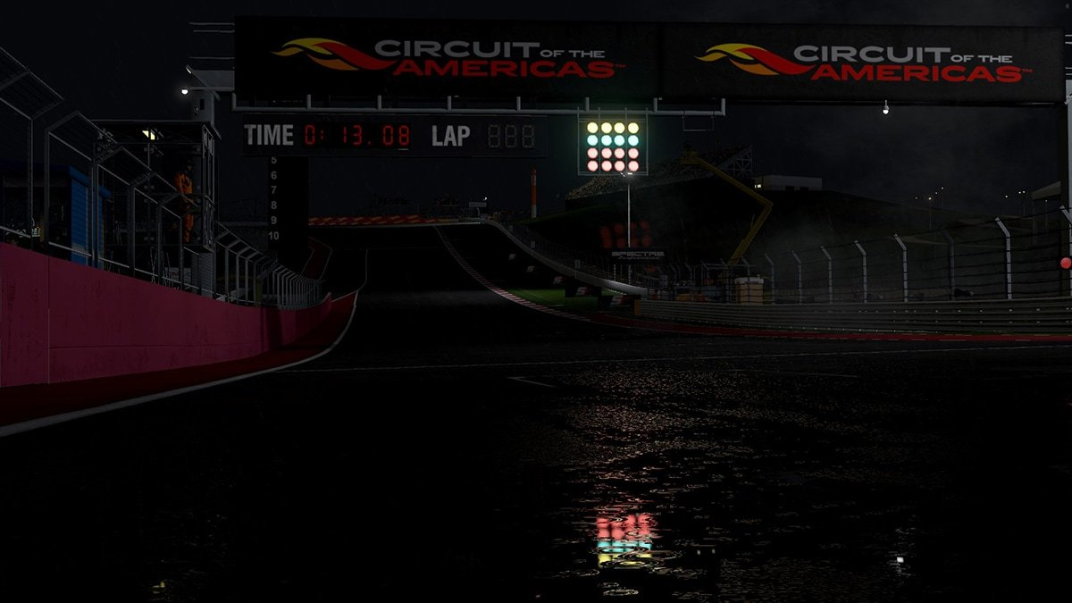 Project CARS 2 Circuit of the Americas night wet