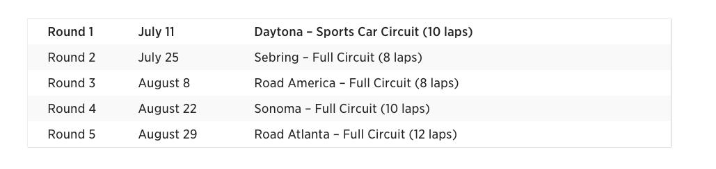 World's Fastest Gamer Forza Motorsport 6 schedule