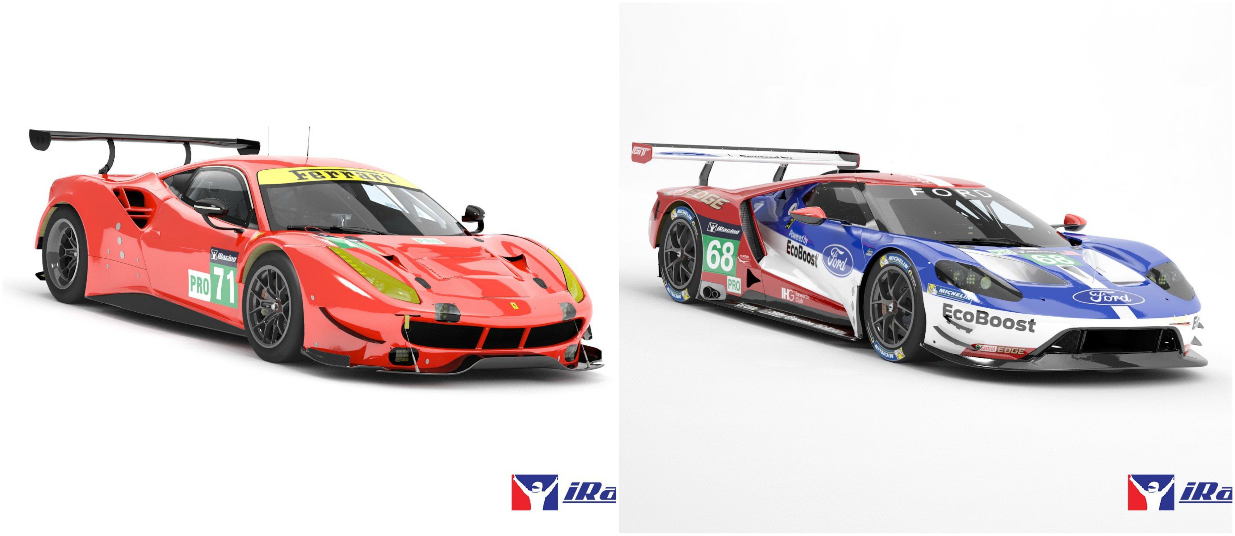 iRacing Ferrari 488 GTE and Ford GT LM GTE-PRO
