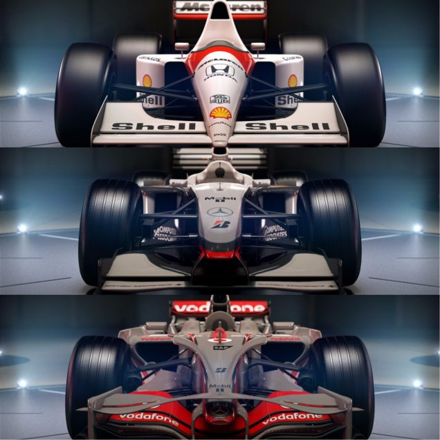 F1 2017 final three McLarens