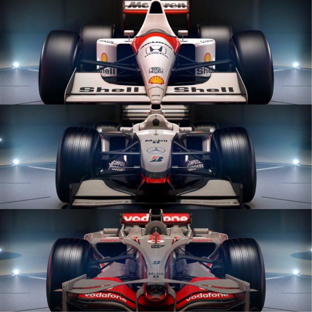 F1 2017 final three McLarens