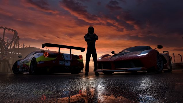 Forza Motorsport 7 2 Ferraris and driver