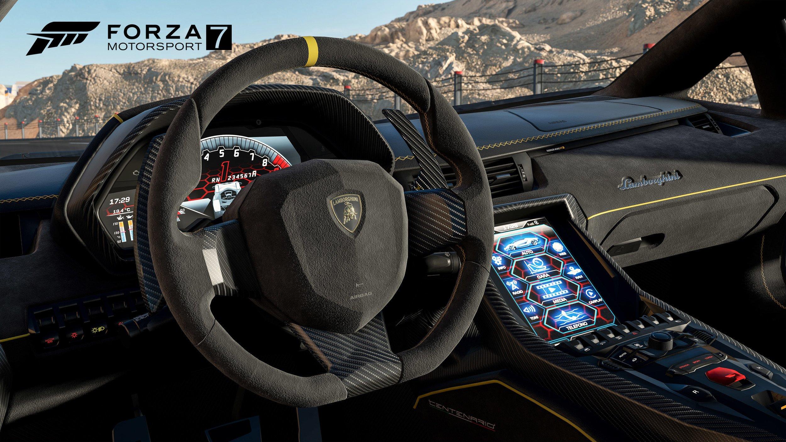 Forza Motorsport 7 Lamborghini Aventador Interior