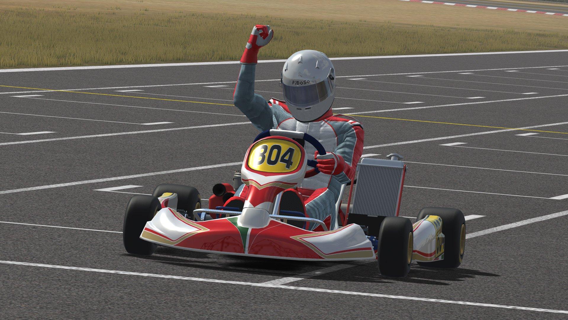 Kart Racing Pro driver cheering