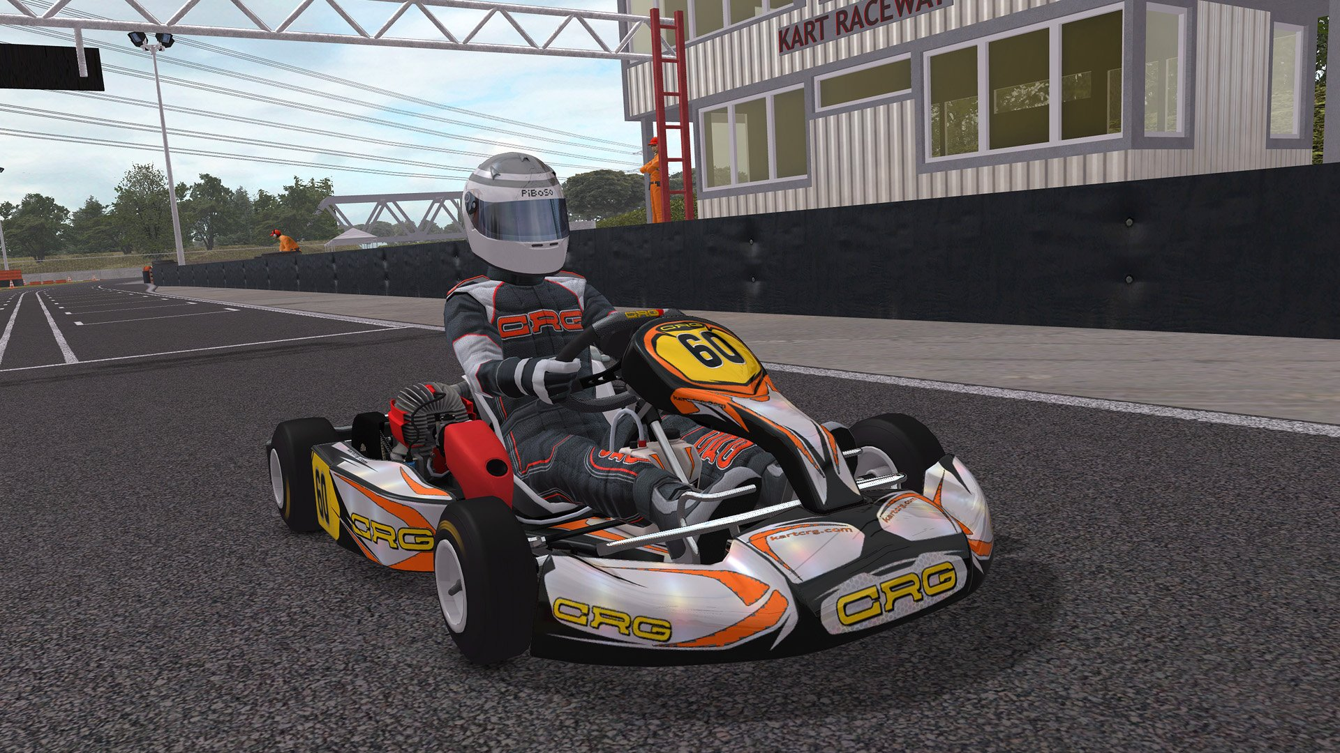 Kart Racing Pro kart with driver from front 2