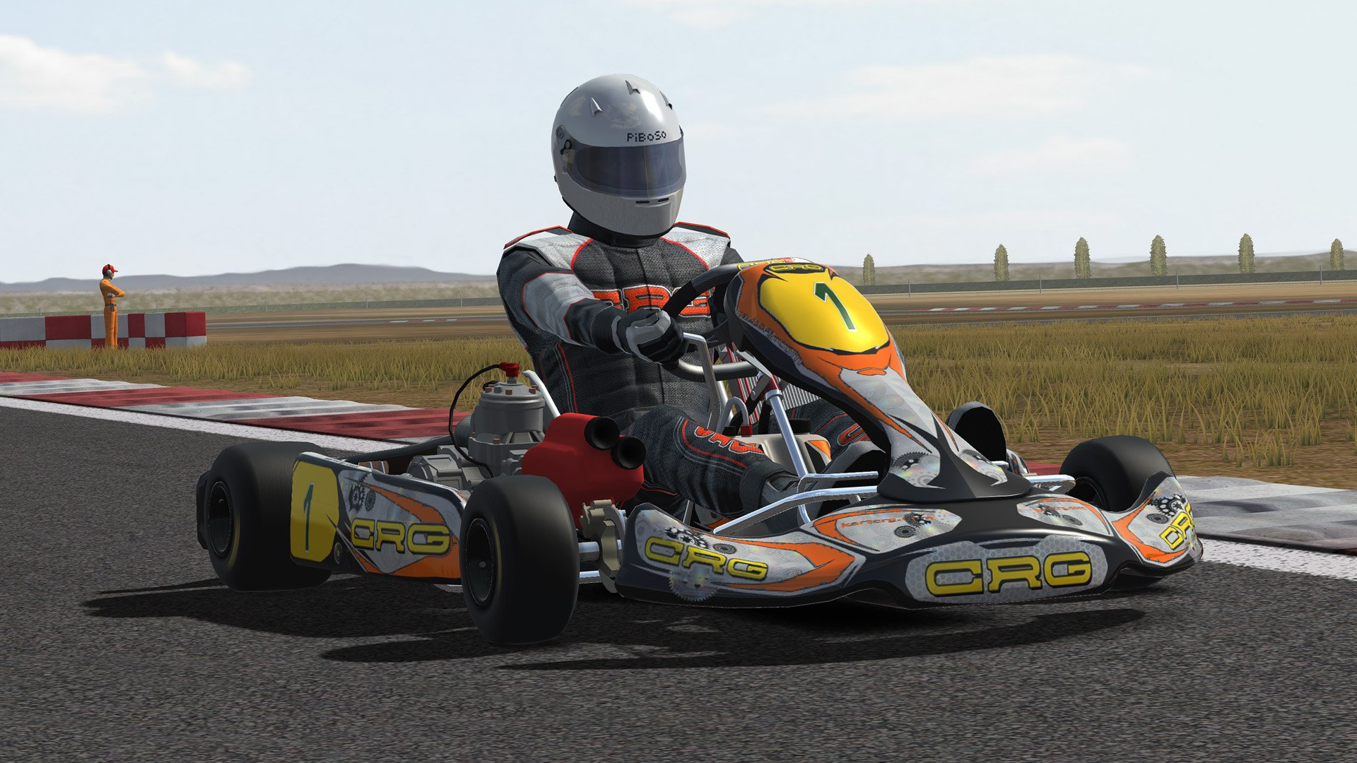 Kart Racing Pro kart with driver from front