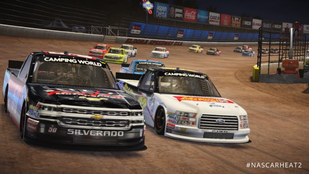 NASCAR Heat 2 Camping World Trucks Eldora at night