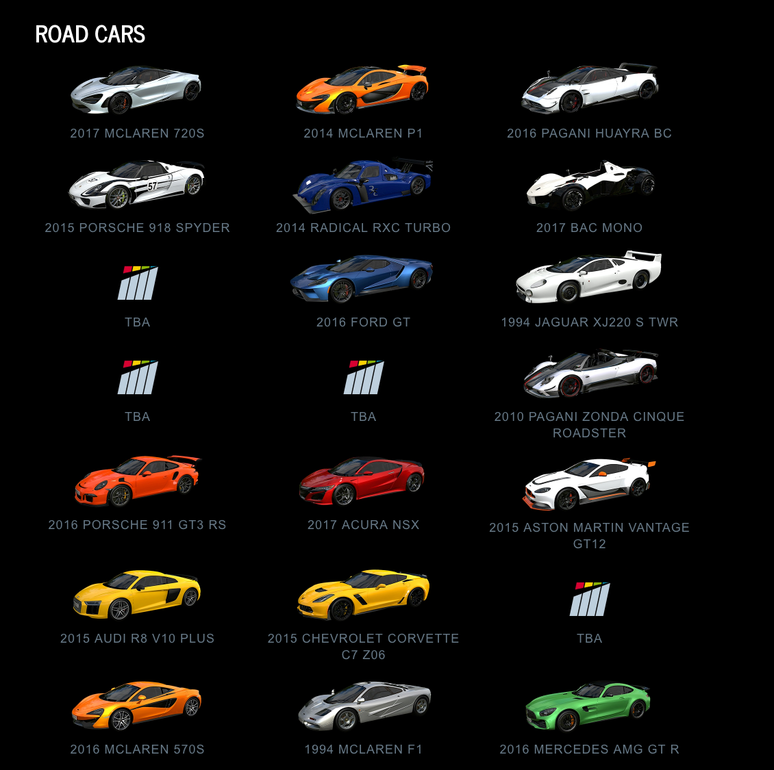 Project CARS 2 Road Cars 1 July