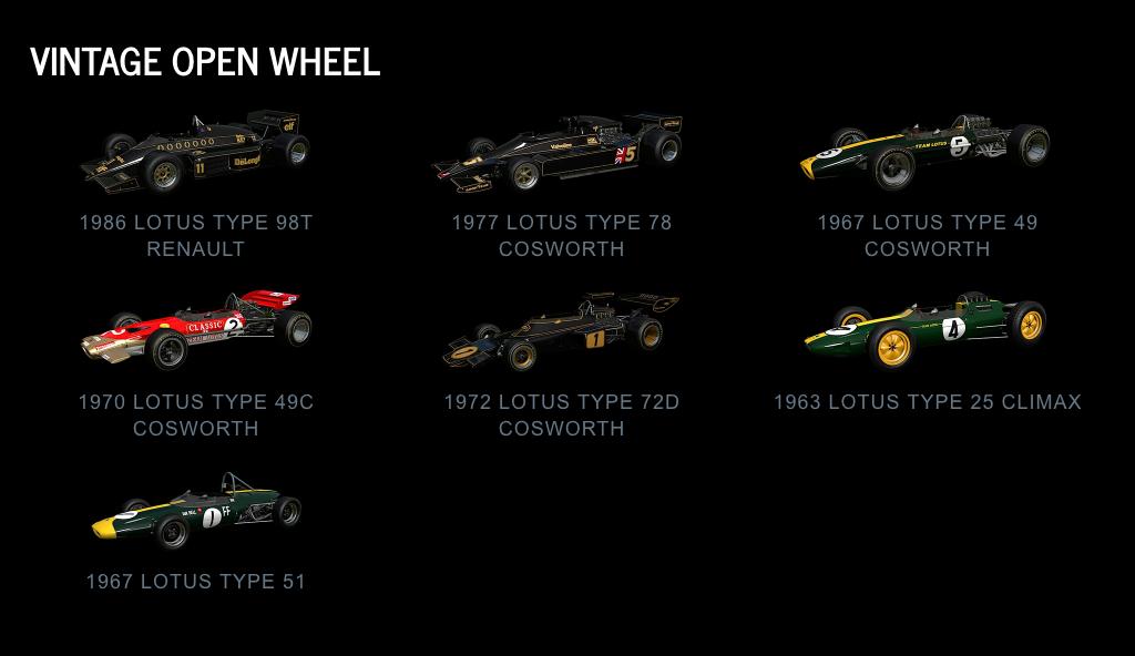 Project CARS 2 Vintage Open Wheel July