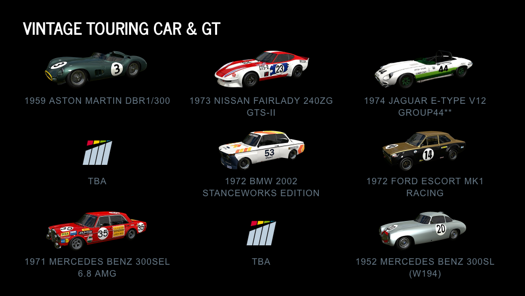 Project CARS 2 Vintage Touring Car & GT July