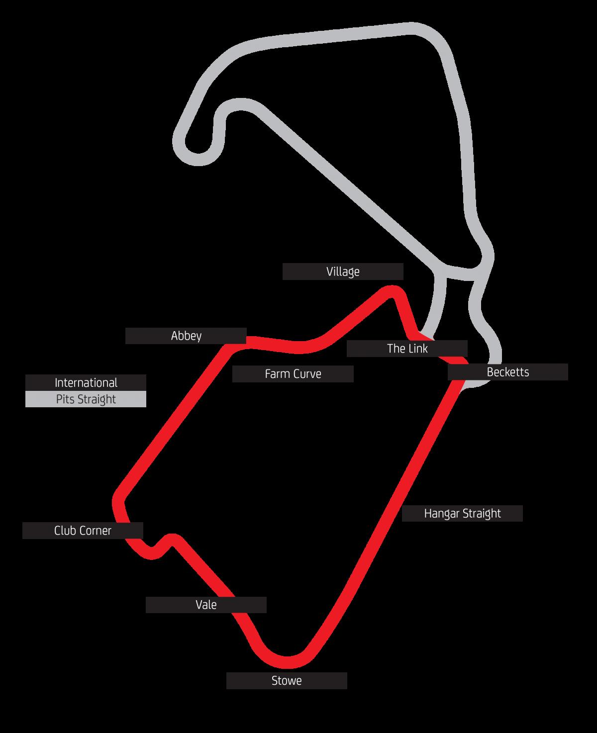 Silverstone International Circuit track map