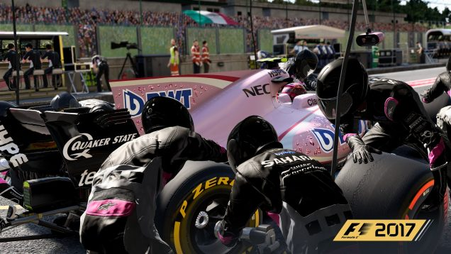 F1 2017 Force India pitting