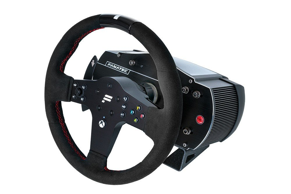 Fanatec CSL Elite Steering Wheel P1 on base