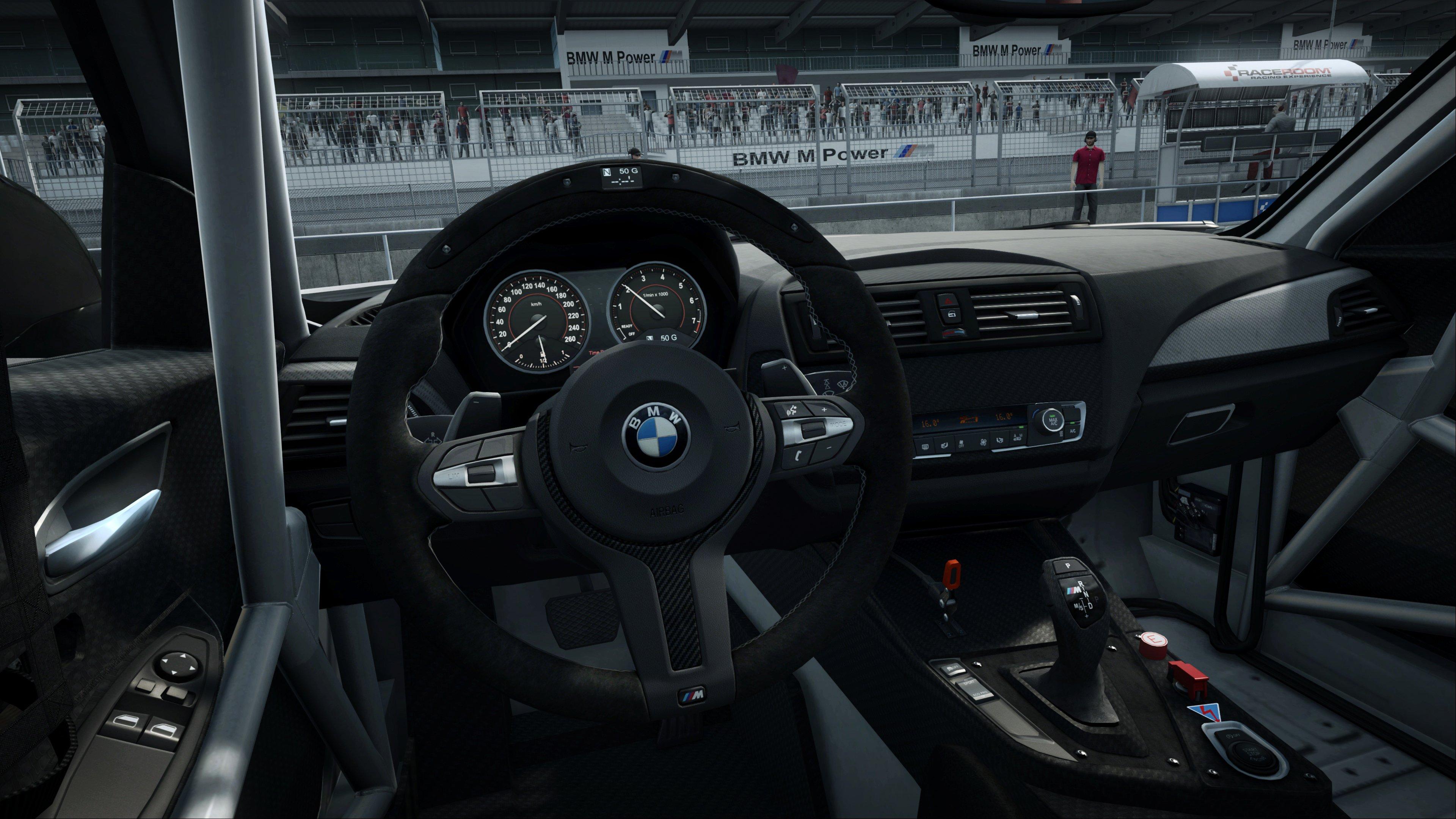 RaceRoom BMW M235i cockpit