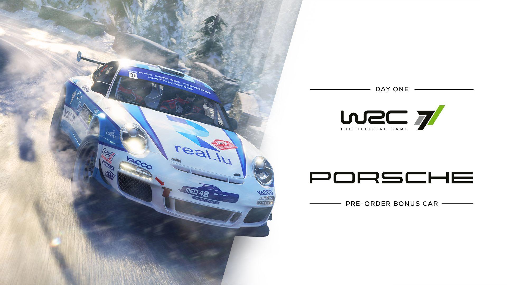 WRC 7 pre-order bonus car Porsche 911 GT3 RS RGT