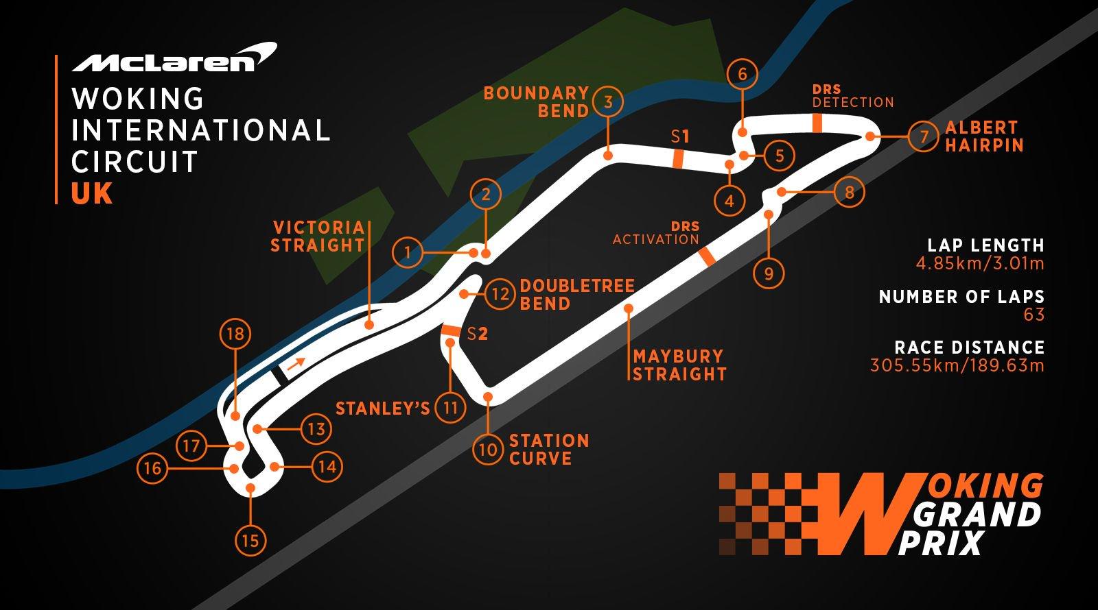 Woking GP track map