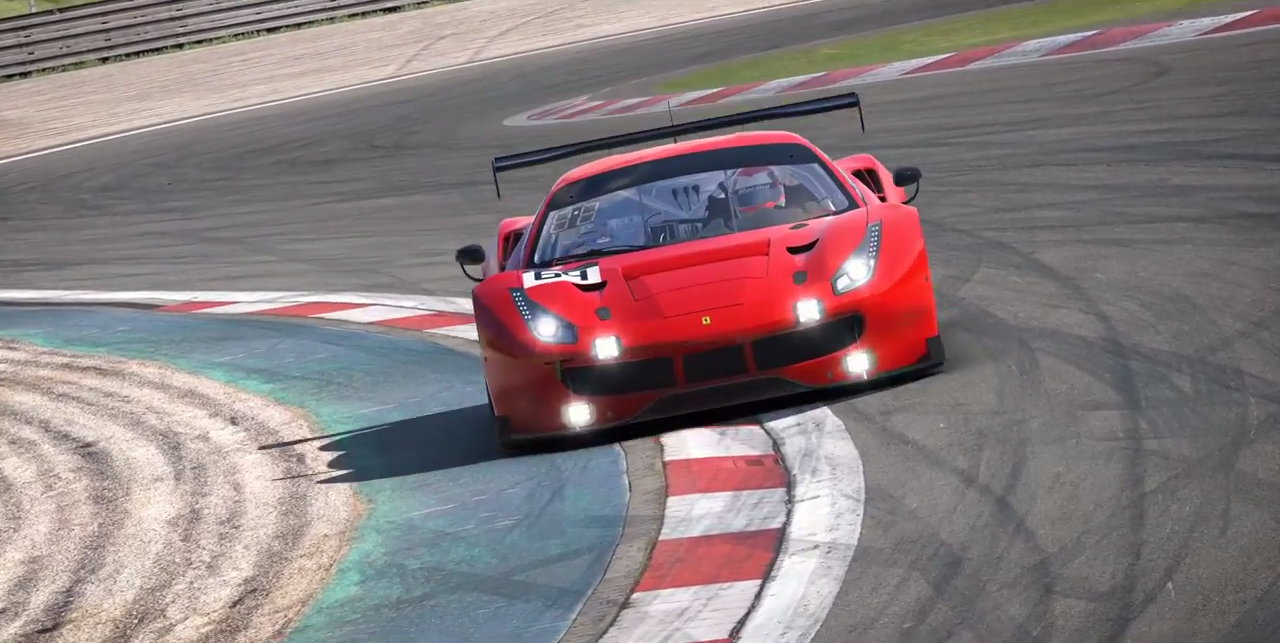 iRacing 488 GT3 trailer screenshot 1