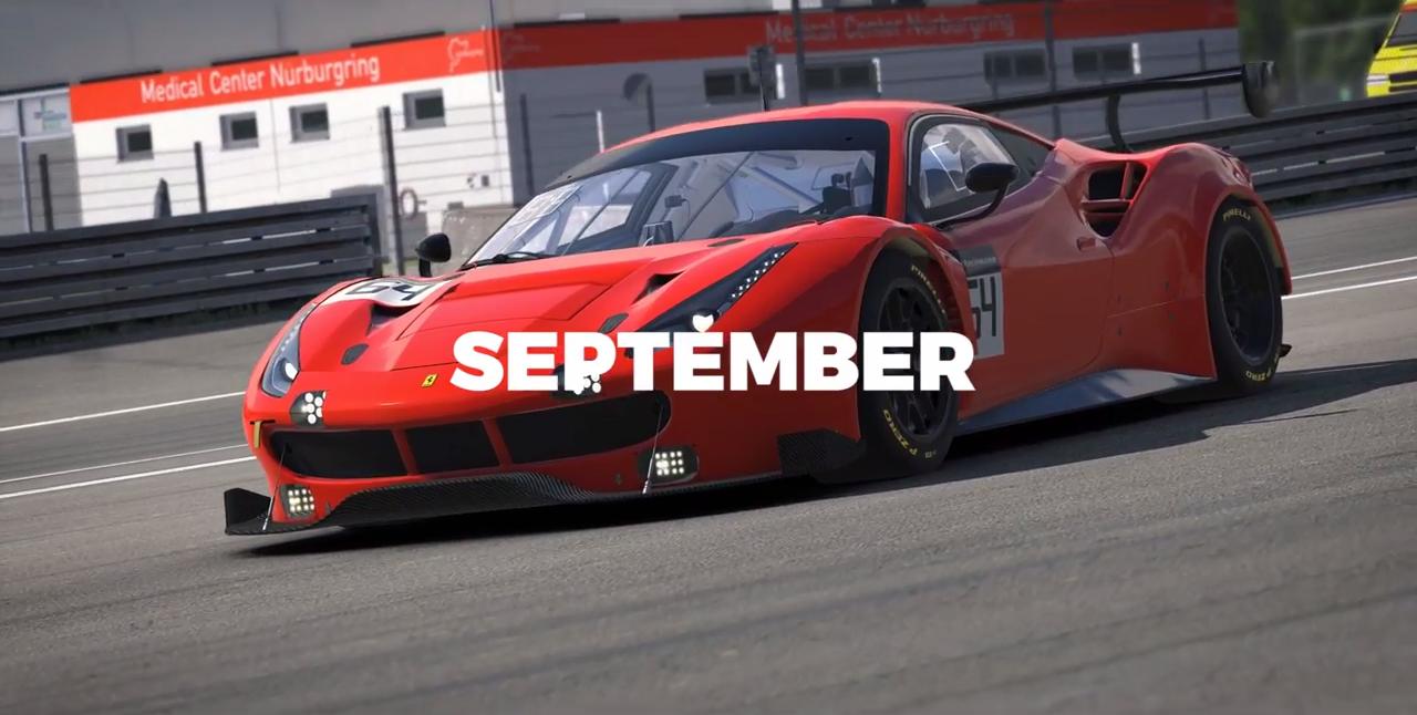 iRacing 488 GT3 trailer screenshot 3 September