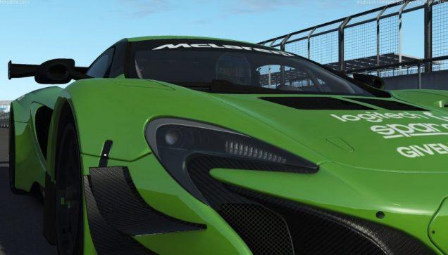 rFactor 2 McLaren 650S GT3 green