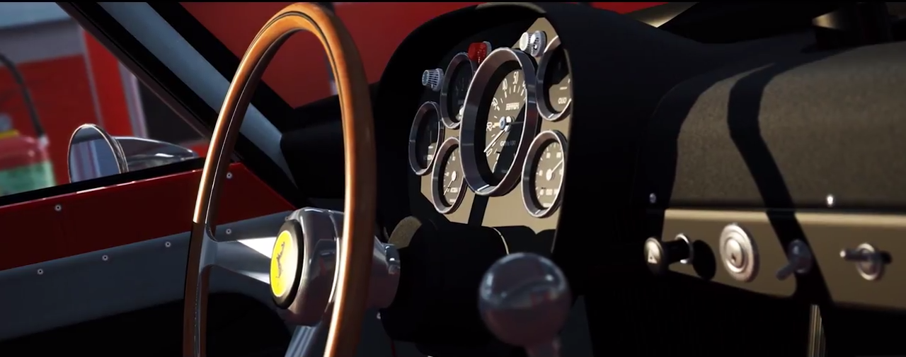 Assetto Corsa Ferrari 250 GTO cockpit screenshot