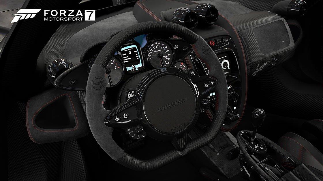 Forza Motorsport 7 Pagani Huayra cockpit